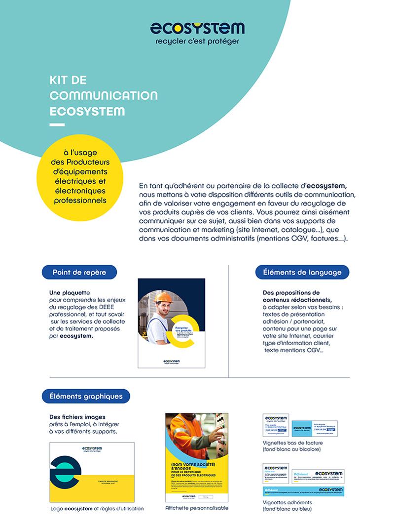 Visuel du produit Kit communication adhérents DEEE professionnels
